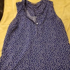 Dark blue star pattern shirt!!
